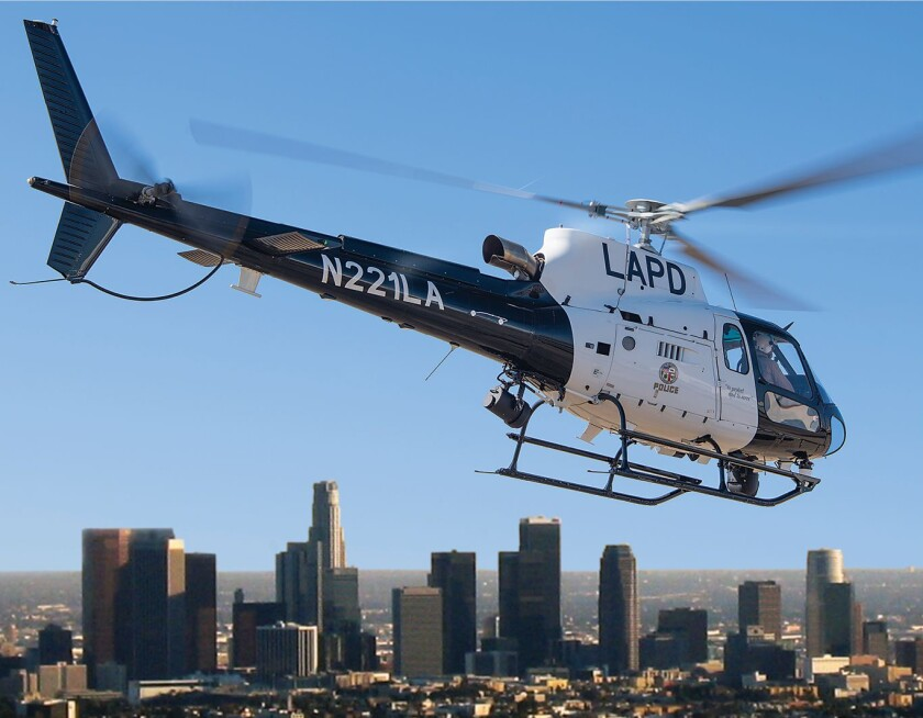 Los Angeles Police Department Airbus H125 helicopter