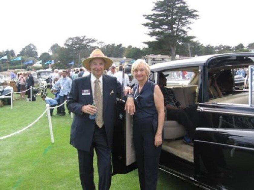 Ken and Ann Smith with their Rolls-Royce Phantom V Sedanca