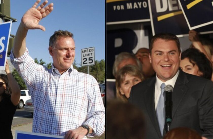 Scott Peters (left) and Carl DeMaio (right)