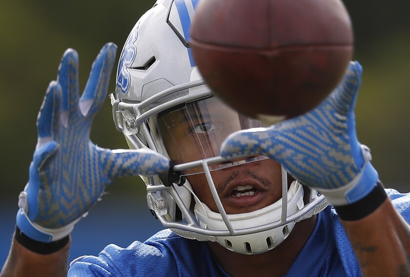 Detroit Lions Kenny Golladay, a third-year receiver with breakout potential, is being drafted as a WR2 in the fourth round of most drafts, but could pay huge dividends.