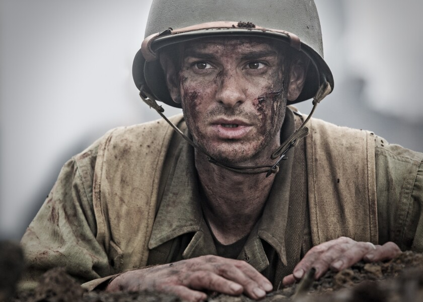 """Andrew Garfield stars in the WWII drama """"Hacksaw Ridge,"""" directed by Mel Gibson."""