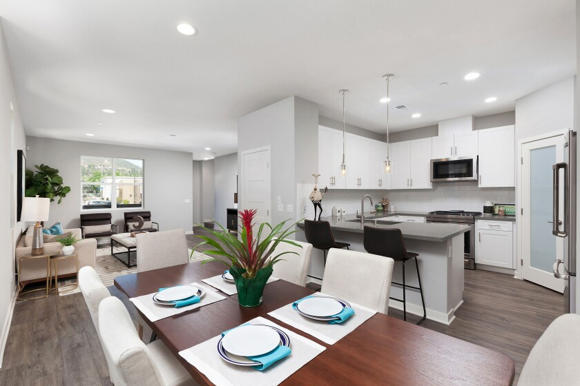 End-of-year pricing at Prato's three-story luxury townhomes starts in the high $500,000s. The residences feature 1,749 to 1,827 square feet with up to four bedrooms.