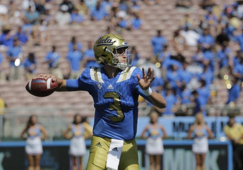 Former St. John Bosco quarterback Josh Rosen is a freshman at UCLA.