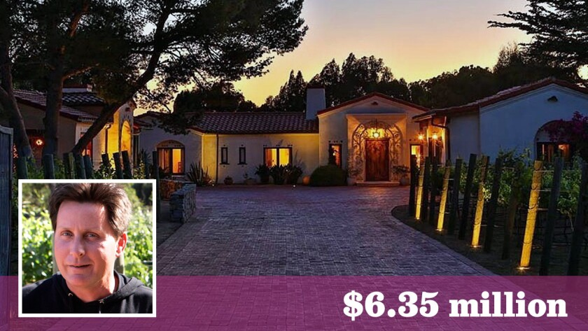 Actor Emilio Estevez has sold his micro-compound with a vineyard in Malibu's Point Dume area for $6.35 million.