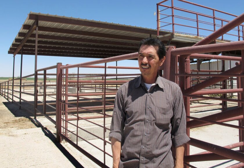 Valley Meat Co. owner Rick De Los Santos stands in a corral area outside the former cattle slaughterhouse he has converted to a horse slaughter facility in Roswell, N.M.. The plant has been waiting more than a year for federal approval to begin operations.