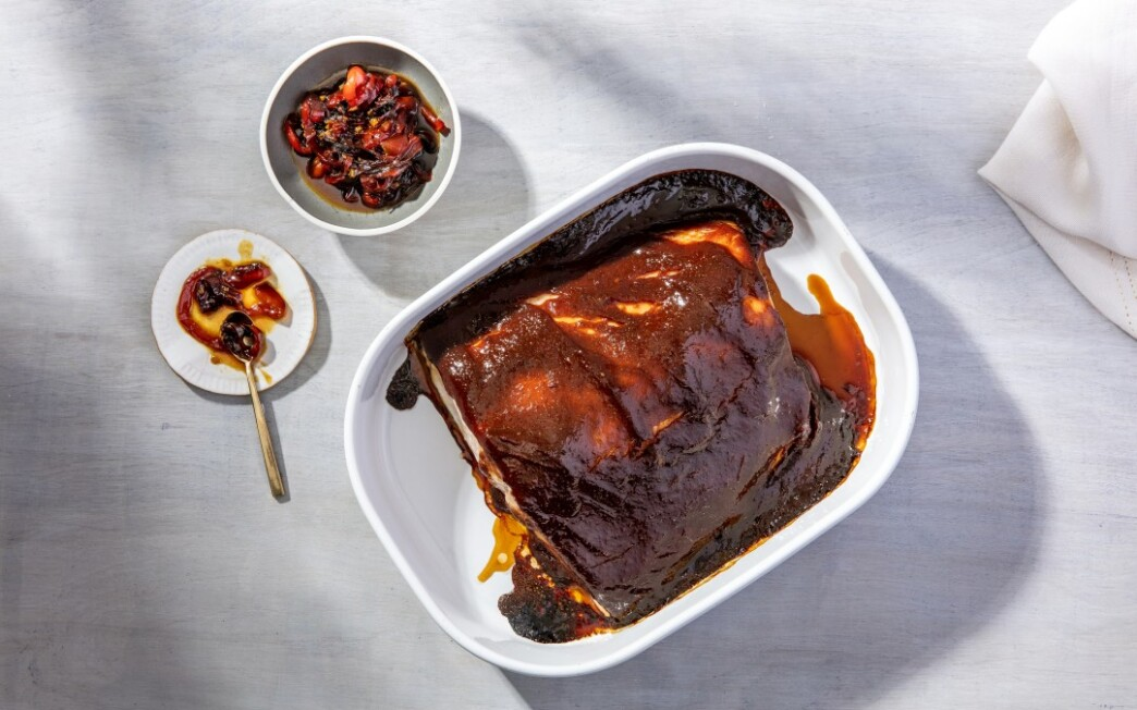 Slow-Roasted Salmon with Miso Barbecue Sauce