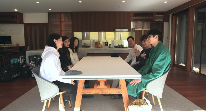 "Each season of ""Terrace House"" features six housemates. This is from the ""Opening New Doors"" season in Nagano."