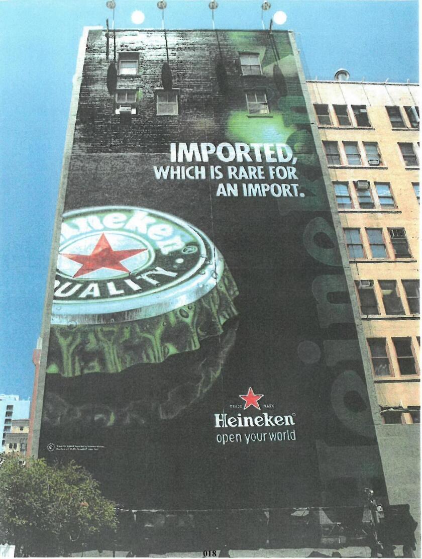 Heineken wall advertisement on 6th Avenue