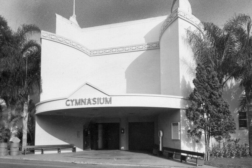 Municipal Gym in Balboa Park, 1950.