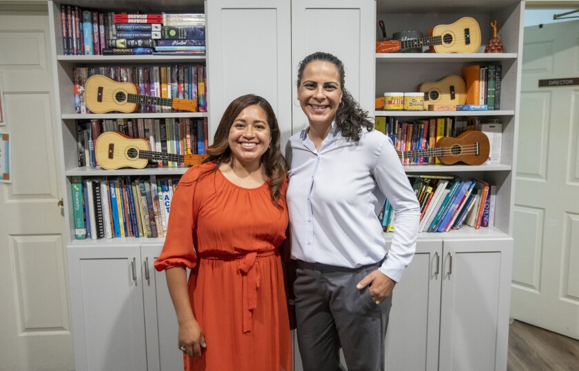 Nancy Galeana, left, and Isabel Kluwe are the co-directors for the Waymakers Huntington Beach Youth Shelter.