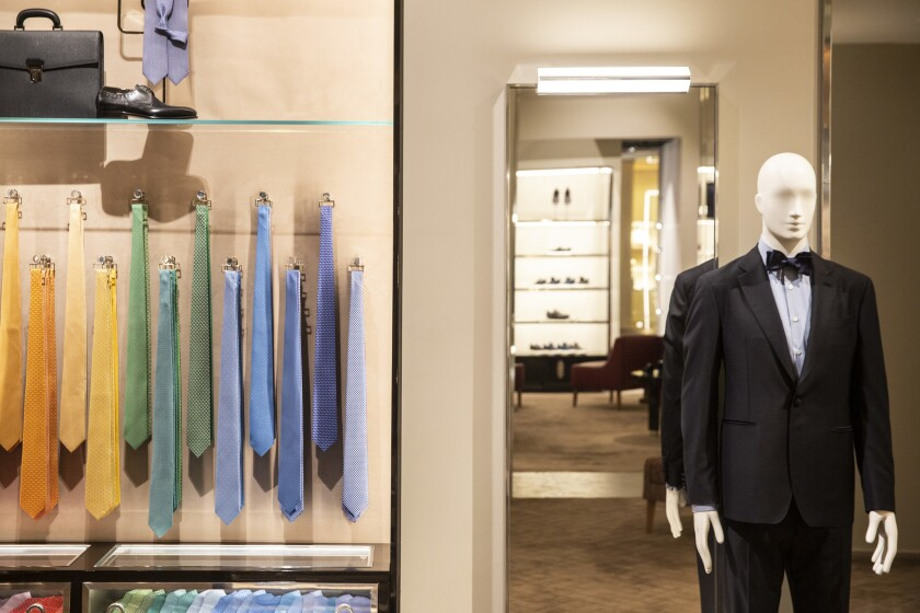 COSTA MESA, CALIF. - FEBRUARY 16: A newly renovated and redesigned Salvatore Ferragamo store at the