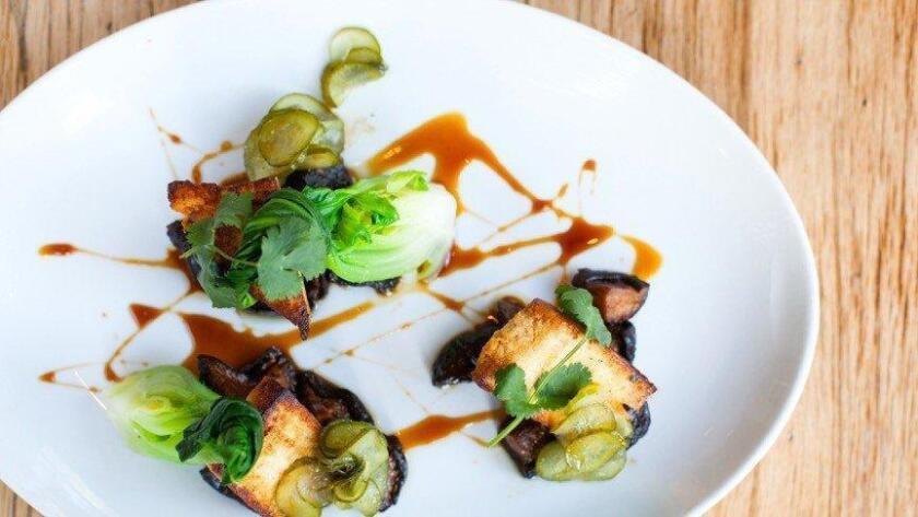 Chili marinated tofu at Jsix (/ Courtesy Photo)