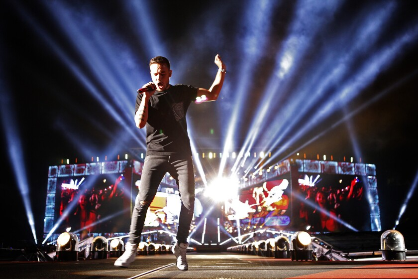 Liam Payne of One Direction performs at the Rose Bowl in September 2014.