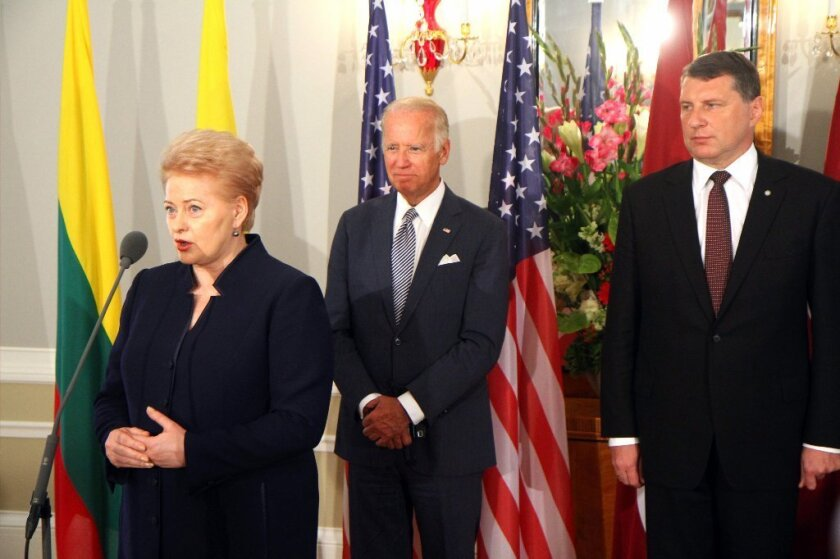 Vice President Joe Biden with Baltic state leaders