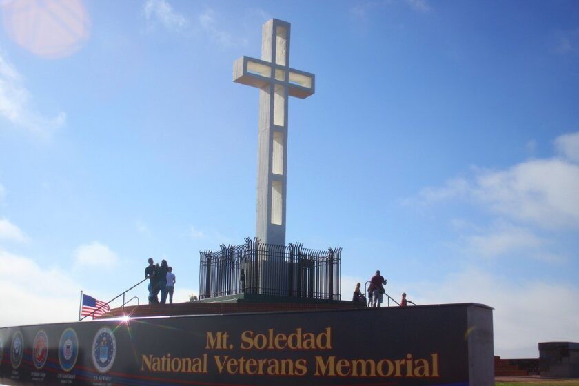 The Memorial atop Soledad Mountain in La Jolla has more than 3,000 plaques honoring veterans, living and deceased, from the Revolutionary War to the current conflicts in the Middle East.