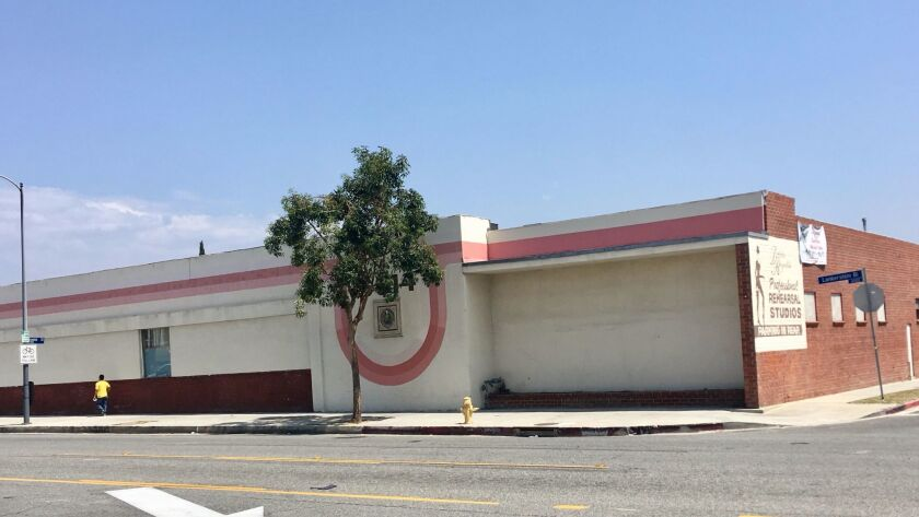 Reynolds' longtime dance studio sits on nearly an acre in North Hollywood.