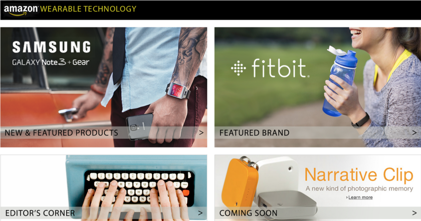 Amazon's Wearable Technology store gives customers a spot to find comprehensive information on wearable devices.
