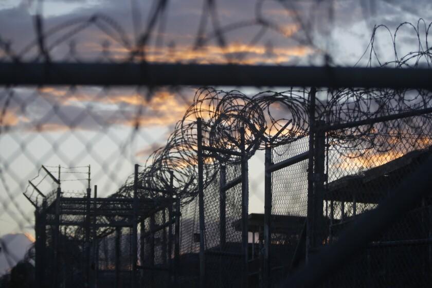 Dawn at now-closed Camp X-Ray at Guantanamo Bay Naval Base, Cuba, last year.