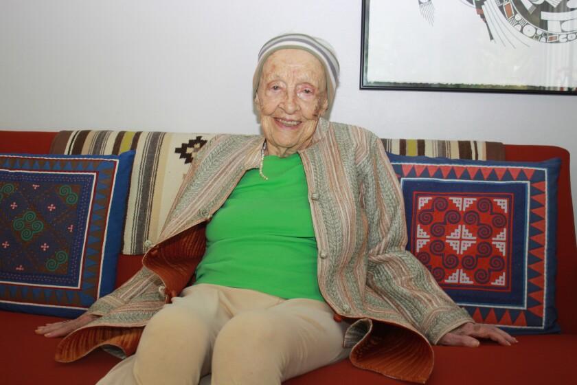 101-year-old La Jollan Marianne Burkenroad