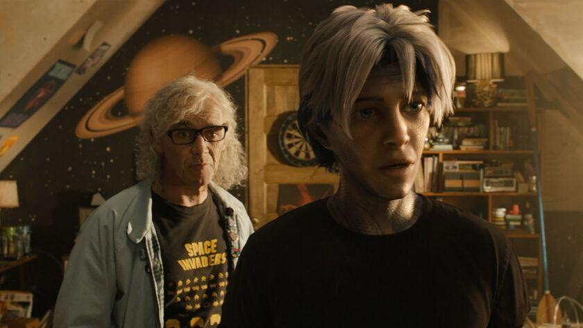 (L-R) MARK RYLANCE as Anorak and TYE SHERIDAN as Parzival in Warner Bros. Pictures', Amblin Entertai