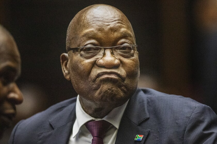 Former South African President Jacob Zuma has denied charges of corruption, money laundering and racketeering related to a controversial 1999 arms deal.
