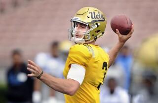 Bill Plaschke's Wake Up Call: UCLA rookie QB Josh Rosen