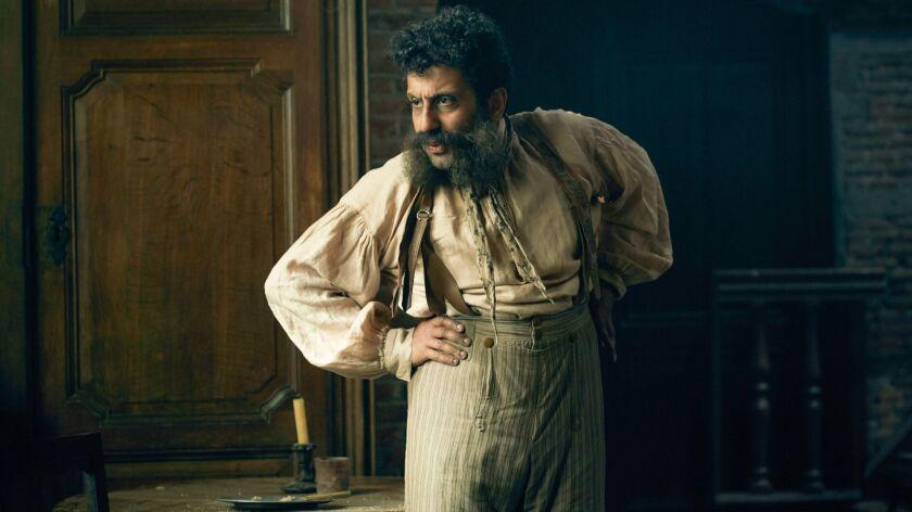 "MASTERPIECE PBS ""Les Misérables"" Shown: Thenardier (ADEEL AKHTAR) (C) BBC - Photographer: Robe"