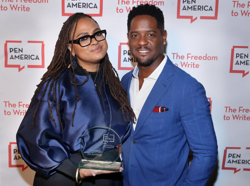 Director Ava DuVernay and actor Blair Underwood at the PEN America LitFestGala in Beverly Hills.