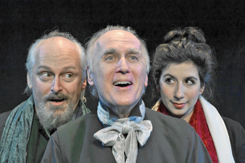 "A scene from the Grove Centre Theatre's production of ""A Christmas Carol,"" opening Nov. 28 in Burbank."