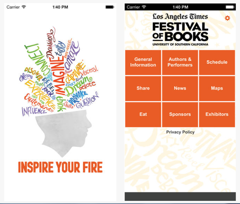 The free Festival of Books app is one way to navigate the festival this weekend.