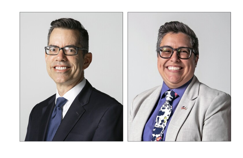 Stephen Whitburn and Toni Duran, candidates for San Diego City Council's District 3.