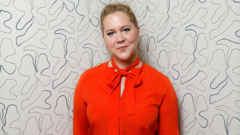 """NEW YORK, NEW YORK--APRIL 14, 2018--Actor Amy Schumer stars in the new movie """"I Feel Pretty."""" Photo"""