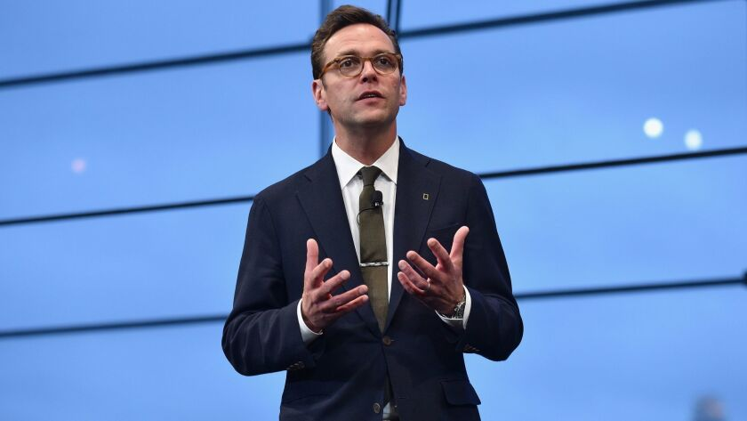 21st Century Fox CEO James Murdoch speaks at an event in 2017.