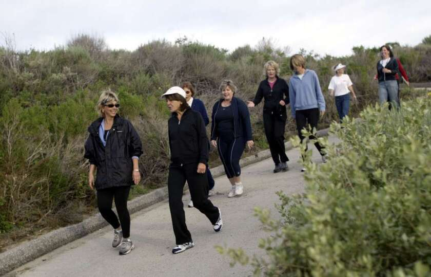 Just four hours a week of walking could drive down a postmenopausal woman's likelihood of developing breast cancer by 10%, says a new study. But you have to keep at it.