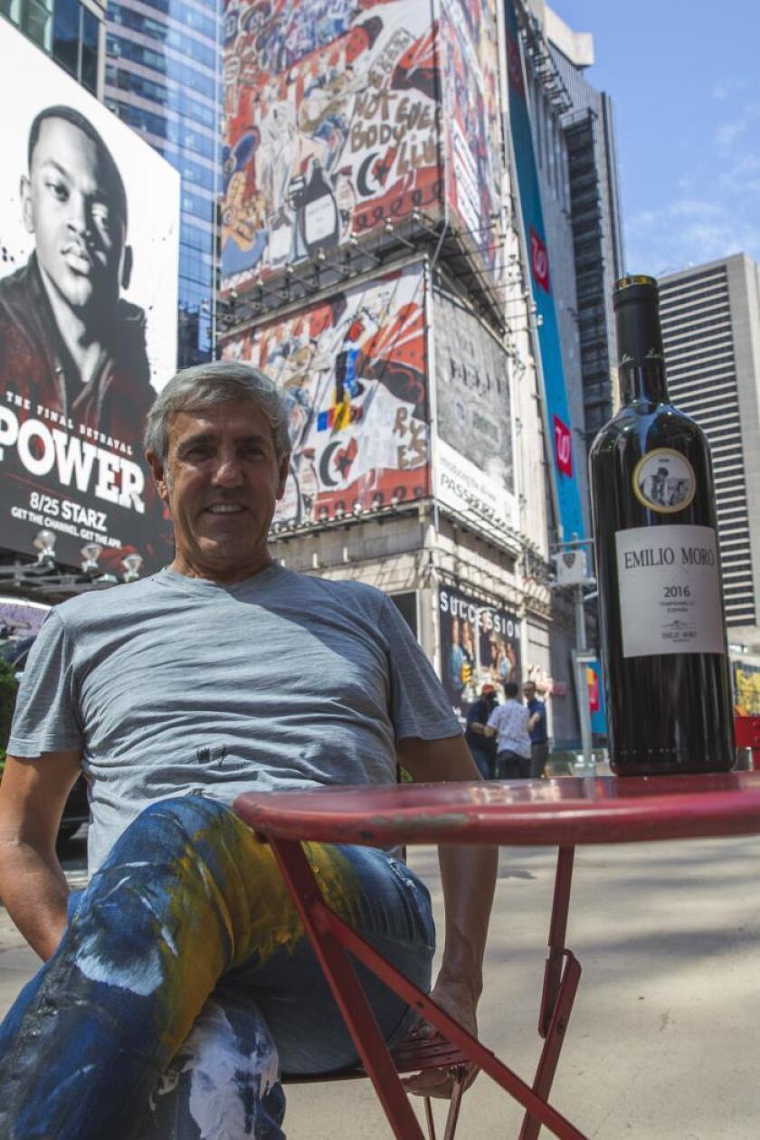 Zapata y las Bodegas Emilio Moro llevan el vino español hasta Times Square