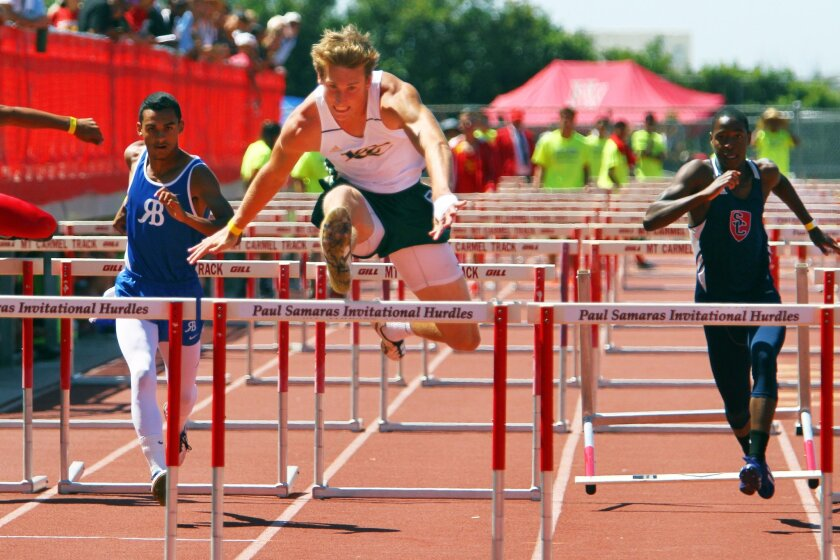 La Costa Canyon senior Jake Cesare is among the leaders in the 110- and 300-meter hurdles.