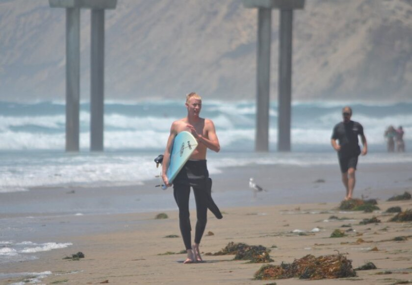 The ocean temperature hit 78 on Thursday at Scripps Pier, the highest September reading in pier's 103 year history.