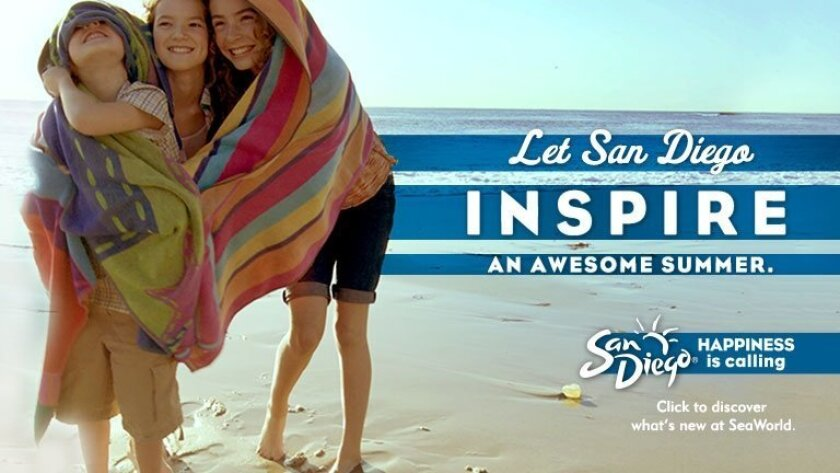 An example of an online ad promoting San Diego for the summer travel season.