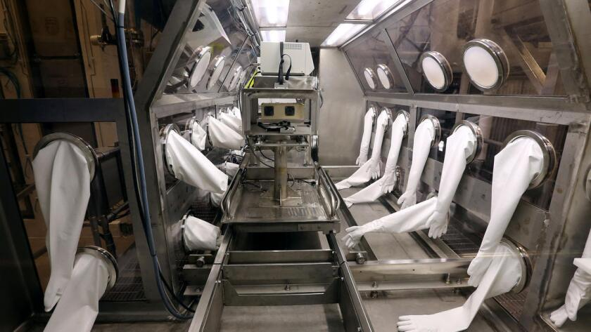 Biohazard handling equipment at the Army's Dugway Proving Ground in Utah, which mistakenly sent live anthrax spores to laboratories around the world.