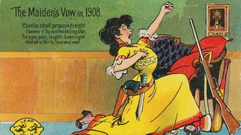 En el siglo XIX se alentaba a las mujeres a proponer matrimonio a los hombres en tarjetas postales.