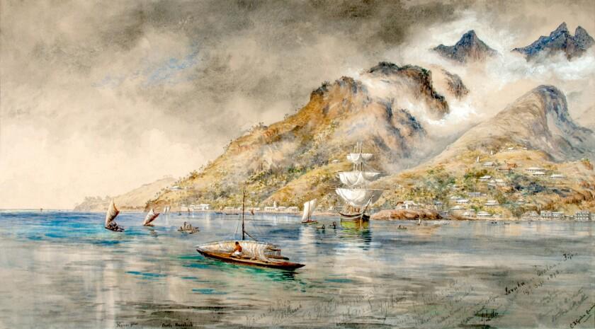 "Constance Gordon Cumming's ""Levuka in Ovalau, Fiji, 19th September 1875"""