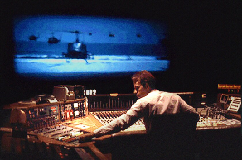 "Walter Murch mixing ""Apocalypse Now"" in a scene from ""Making Waves: The Art of Cinematic Sound."""
