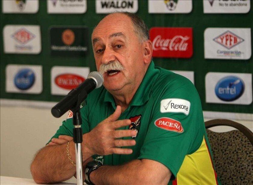 El seleccionador boliviano, el español Xabier Azkargorta. EFE/Archivo