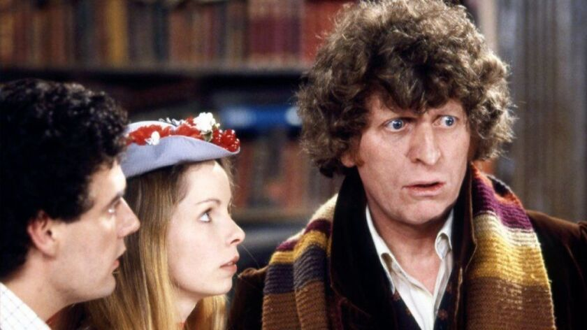 """Tom Baker, right, with Lalla Ward and Daniel Hill, star in """"Doctor Who: The Lost Episode"""" on BBC America."""