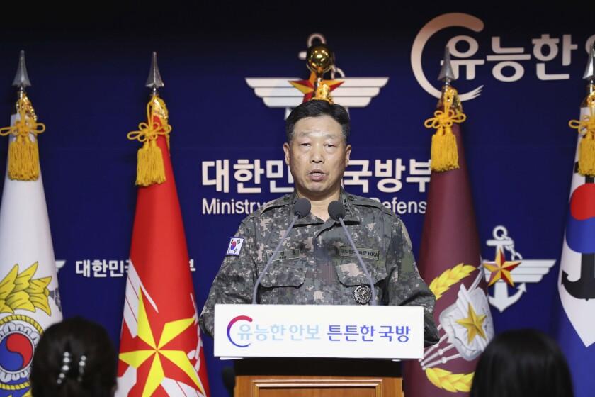 Lt. Gen. Ahn Young Ho, a top South Korean military official