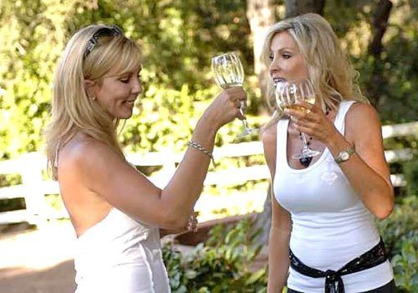 "Vicki Gunvalson, left, and Lauri Peterson on ""Real Housewives of Orange County."""