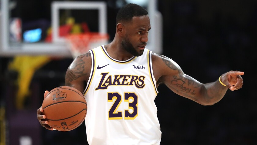 LeBron James said he had to evacuate his home soon after the Lakers' win over Charlotte on Sunday night.