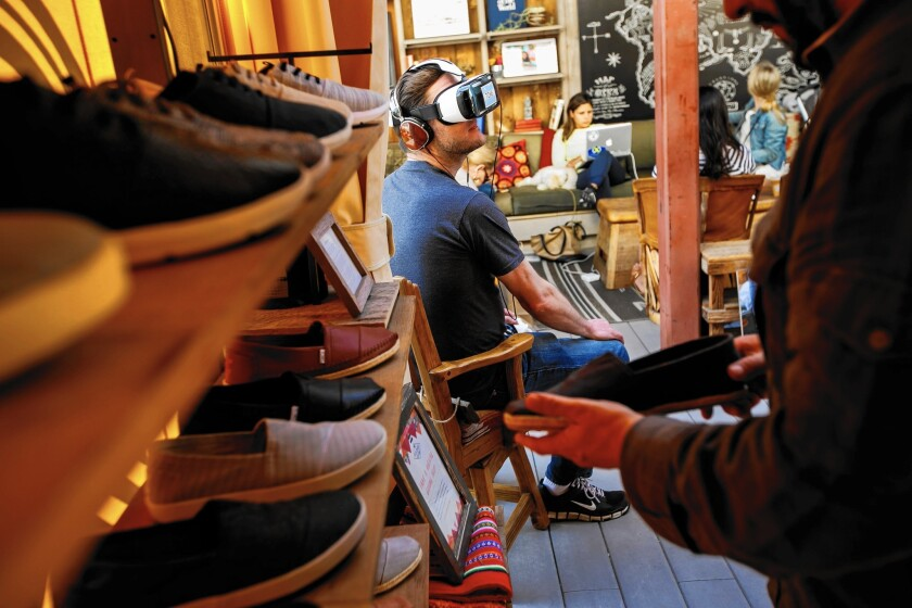 Retail stores turn to virtual reality to attract customers