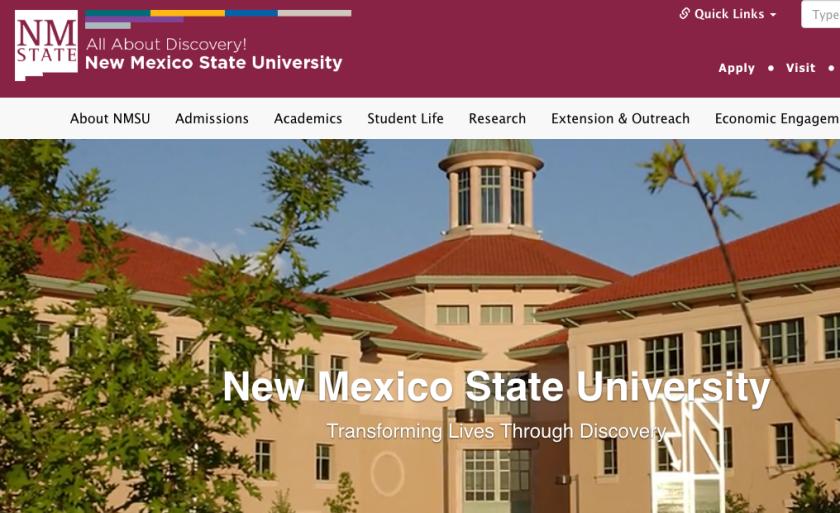 Peagina web de New Mexico State University. Internet.