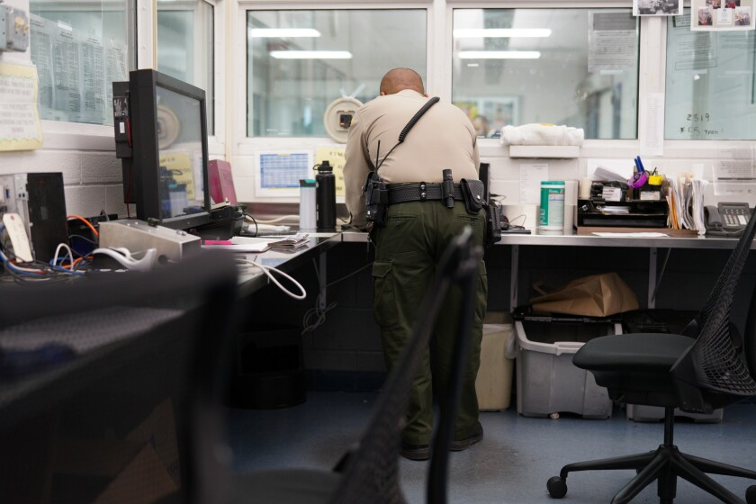 At the San Diego Central Jail, Sheriff's deputies have a direct line of sight to inmates who are housed in the Psychiatric Inpatient Unit.